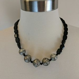 | Sale | Jewelry Black and Silver Necklace